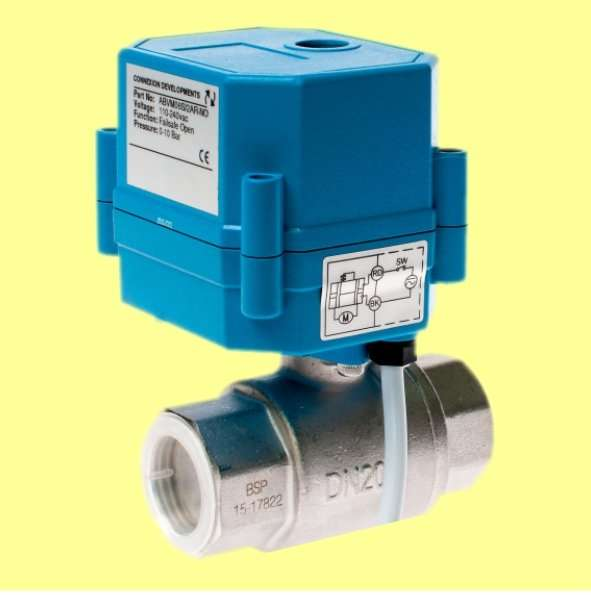Actuated motorised ball valve