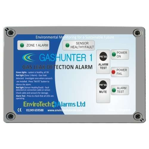 Gas leak detection alarm