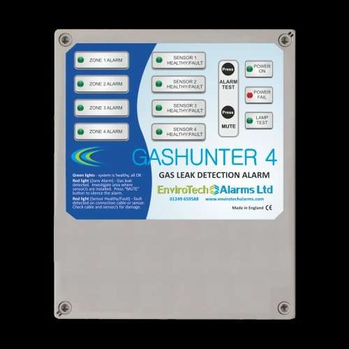 Gas leak detection alarm panel