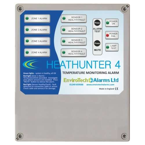 Over temperature monitoring alarm