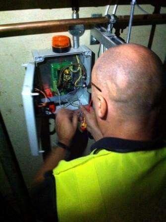 Installing the alarm panel