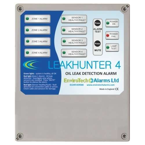 Multizone oil leak detection alarm panel