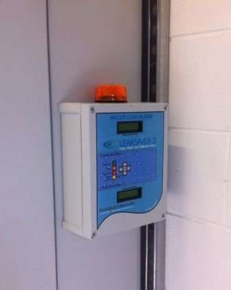 Alarm panel mounted in plant room